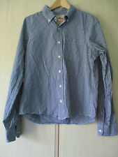 mens HOLLISTER COTTON CHECK SHIRT SIZE LARGE (SHORT LENGTH)