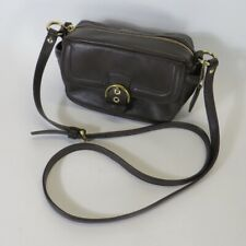 Coach Brown Leather Campbell Mini Handbag Purse Shoulder Camera Bag F25150 9x5x4