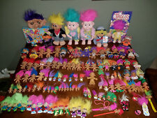 Huge Vintage Troll Doll Lot of 125 Figures with Puzzle Mask Watch