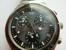 Swatch RARE Irony Swiss Made Mens Watch Blue Dial chronograph stainless steel