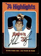 Nolan Ryan HL/Fans 300 for/3rd Year in a Row Card 1975 Topps #5