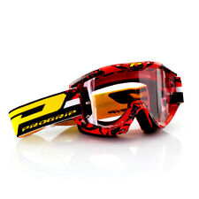 Progrip Motorrad Cross Brille 3450 Topline in Farbe Rot