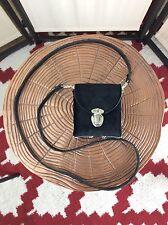 Super Cute Vintage 90's Black Velvet Push Lock Tiny Box Bag Cross-body Shoulder