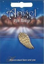Angel wing Pin badge,  English Pewter
