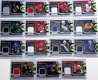 2015-16 Upper Deck Series Two Rookie Materials Lot (15 Cards) CLEARANCE No Dupes