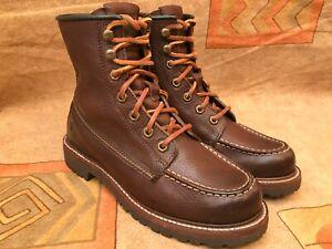 Frye Women's Dakota Mid Lace Brown Work Leather Moc Boot 7