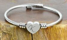 Women's Ladies Stainless Steel WORDS Bar Bracelet Free Engraving