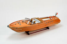 """Riva Aquarama Exclusive Edition 34"""" Handcrafted Wooden Classic Boat Model"""