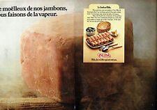 PUBLICITE ADVERTISING 126  1978   le jambon à l'eau Olida (2 pages)