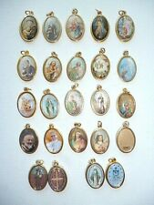 SAINTS MEDALS - Coloured Picture with Gold Highlights - Gilt Medal