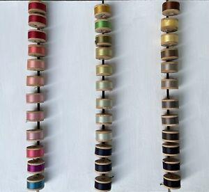Vintage Belding Corticelli Button Buttonhole Pure Silk Twist Thread 36 Spools