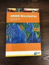 ANWB Wereldtatlas Pocket, Written In Dutch, Paperback! World Atlas!