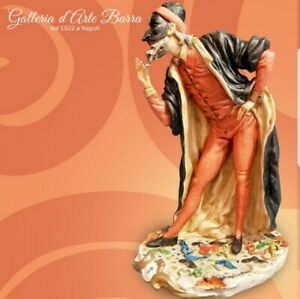 Porcellana di Capodimonte, Maschera di  Carnevale, Pantalone.