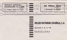 Espagne 1978 HELLER Factoring Cover Mataro à Barcelone Très bon état