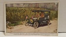 Postcard Advertising Flanders 20 Car Dixie Trail Sorghum Field Unposted P20