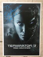 Terminator 3 Poster Signed By Kristanna Loken- TX