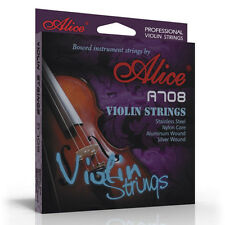 Alice SUPERIOR VIOLIN STRINGS 4/4 3/4 set nylon core wound FREE spare E string