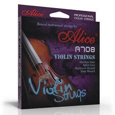 Alice SUPERIOR VIOLIN STRINGS 4/4 3/4 set nylon core wound FREE spare E string