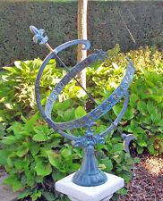 Bronzeskulptur Sonnenuhr Dekoration für Heim und Garten *