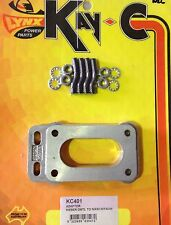 CARB ADAPTOR PLATE WEBER TO NIKKI HITACHI 87 x 46mm CARBY CARBURETTOR