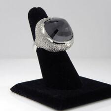 53.56ct Black diamond Right hand ring 4ct white diamonds in 18K gold