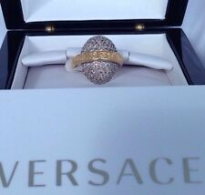Versace 18k Ring Diamonds Made In Italy $13000 Retail! Imported!!!!