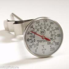 "8"" Stem Nsf 1 3/4"" BiMetal Dial Thermometer, Recalibratable 0° to 220°F # 08215"