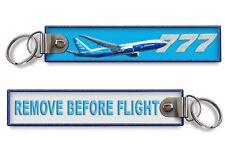 B777-Remove Before Flight (BLUE) Keychain x1