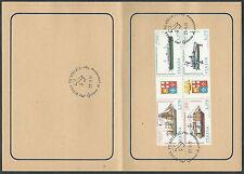1977 ITALIA NAVI BLOCCO ANNULLO FDC - ED778