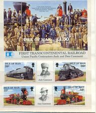 Isle of Man-Railways set and min sheet mnh -1992