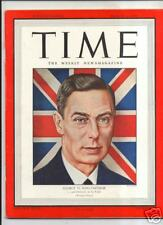 Magazine TIME  King George VI   MARCH  6 1944