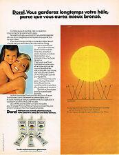 PUBLICITE ADVERTISING 064  1973  DOREL   cosmétiques solaires