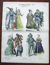 1880s German 15/16th Century Knights Costume Print