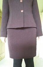 Womans Australian skirt suit in plum colour