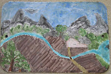 VINTAGE 1950'S OUTSIDER ART ISAAC IRWIN RABINOV 1898-1980 ENAMEL ON STREET SIGN
