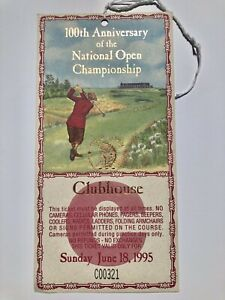 1995 US Open Championship Sunday 100th Anniversary Shinnecock Clubhouse Pass