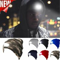 Unisex LED Beanie Hat With Batteries Head Light Winter Warm Hats For Men Women