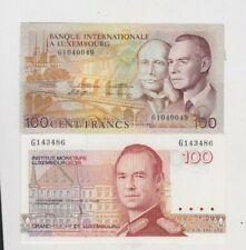 More details for two p14a & p58a 100 franc banknotes from luxembourg in near mint conditon.
