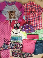 Lot of 10 Girl's Clothes Size 10-12 Summer Fall Winter
