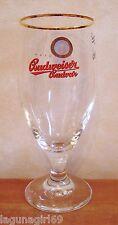 Budweiser Budvar Czech Lager Beer Stemmed Half Pint Glass Pub Bar Unused M12