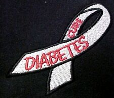 Diabetes Sweatshirt 5XL Embroidered Awareness Ribbon Black Hoodie Unisex New
