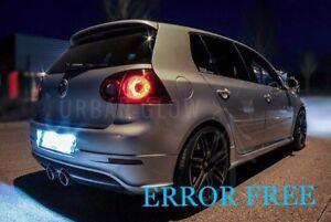 VW GOLF MK4 MK5 LED Xenon White Number Plate LIGHT Bulbs ERROR FREE R32 GTD GTi