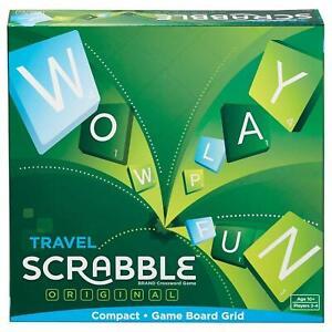 Mattel Juegos Scrabble Viaje - Edades 10 Años 2-4 Jugadores - de Mesa Familiar