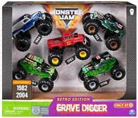 Monster Jam Grave Digger 5 Pack Monster Trucks 1:64 Diecast Scale Retro TARGET