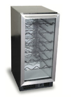 "Scotsman SCV32-1SD 15"" Wine Cooler Refrigerator Black/Stainless - 32 Bottles"