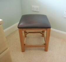 Contemporary, Cushioned Leather Top Square Stool,/Seat from Evans Furniture, NEW