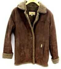Nickelson Vintage Mens Leather Fleece lined Jacket Dark Brown Size Medium