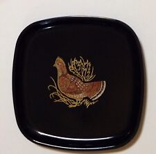 "Rare Couroc Mcm Tray Grouse Handcrafted In Monterey Ca 8½"" x 8½"" Smooth As Silk"