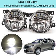 LED Fog Light Lamp For Dacia Duster Sandero LOGAN 2004 05-2015 DRL Lamp w/ Bulbs