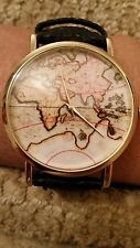 Hot Sale Fashion World Map belt fashion quartz watch Wristwatch